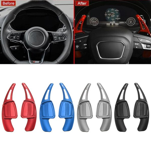 1 Pair Aluminum Alloy Steering Wheel Gear Shift Paddle Shifters For Audi A4 S4 B9 A3 A5 Q2 Q5 Q7 TT Paddle Accessories