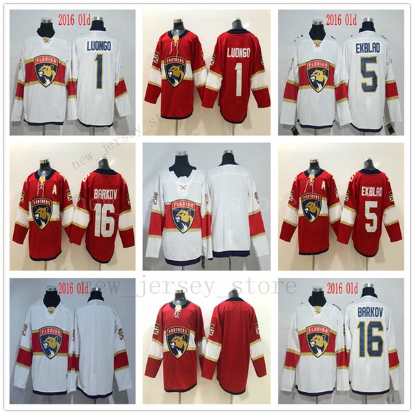 quality design 0ec49 2be6b 2019 New Florida Panthers Jerseys Ice Hockey 5 Aaron Ekblad 16 Aleksander  Barkov 1 Roberto Luongo Jersey Red All Stitched High Quality On Sale From  ...