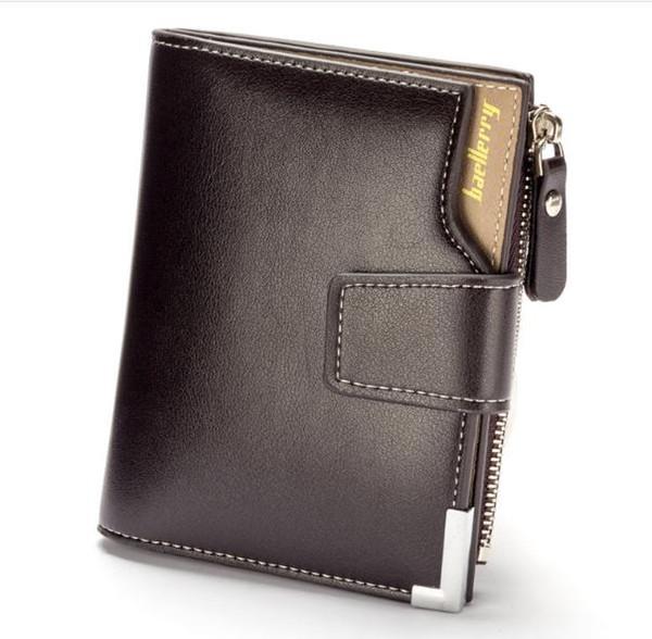 Monedero pequeño de moda Cartera de cuero suave para hombres Multifunción de gran capacidad Carteras para hombres de alta calidad monedero con bolsillo para monedas
