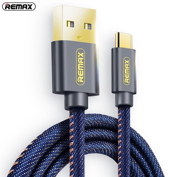Remax Type C USB C Braided Data Cable 1.2m/1.8m 5v/2A Fast Charging Sync Cable For Galaxy S8 S9 plus Note 8 /xiaomi Mi5