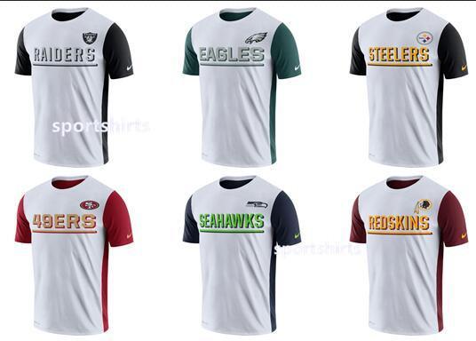 2018 Men Oakland Raiders Philadelphia Eagles Pittsburgh Steelers San Francisco 49ers Seahawks Redskins White Champ Drive 2 0 Performance T Shirt From