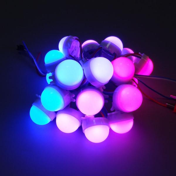 20 unids / lote DC12V WS2811 30mm Difundido LED Módulo de Pixel a Todo Color 3 LEDs 5050 RGB led cadena de lámpara D30 módulos a prueba de agua IP68
