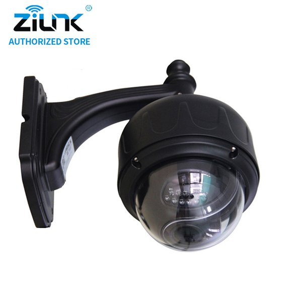 ZILNK Full HD 1080P 2Megapixel WiFi Outdoor 5x Optical Zoom PTZ Wireless IP Camera Motion Detection Onvif Suppot TF Card Black