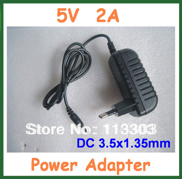 5V 2A 3.5x1.35mm Charger Power Supply Adapter for Tablet Cube iWork11 stylus Ainol Novo 7 Crystal Fire Flame ELF II EU US Plug