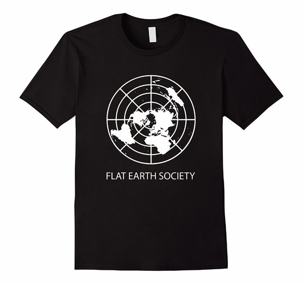Men's Fashion Flat Earth Society Cotton Classic Cool Short Sleeve Tops & T-Shirts New 2018 Fashion Summer