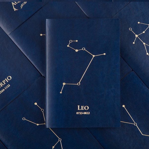 Creative A5 Twelve constellations Hardcover Notebook Fashion trends personal Diary agenda Notebook Account book Stationery Gift
