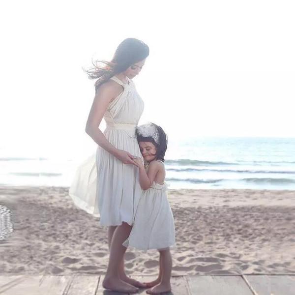 2017 Sexy Elegant Chiffon Beach Boho Wedding Dresses Short Length Bridal Gowns For Beach Bohemian Wedding