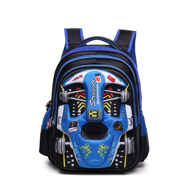 babay Backpack Children 3D Car School bags boys kindergarten Schoolbag Primary school Backpack Kids Satchel Mochila Infantil Zip Y18110107