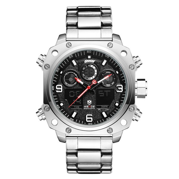 The new WEIDE WH7303 watch dual movement display sports watch LCD electronic multi-function watch automatic date week display