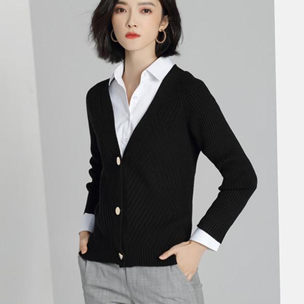 2018 new knit cardigan women's sweater short V-neck loose Korean thin Thread jacket female spring autumn casaco feminino