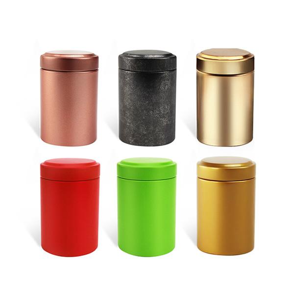 45 * 65mm Çay Gıda Saklama Kutusu Seyahat Taşınabilir Küçük Metal Paralar Şeker Durumda Makyaj Takı için Teneke Kutu Şeker organizatör Noel