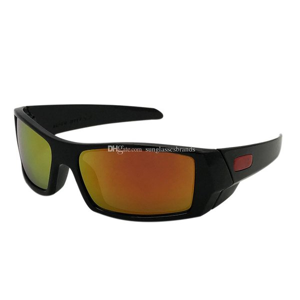 O Gas can Luxury Design Sunglasses 12-891 Fashion Sports Brand Eyewear Polished Black/ Fire IRIDIUM Mirror Lens Free Shipping OK58