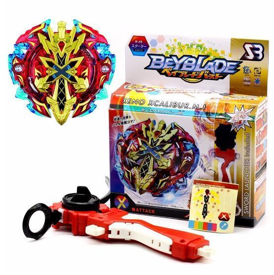 Beyblades Gyro Metal Plastik Fusion 4D Iplikçi Hızlılık Beyblades Spin Top Oyuncak Seti, Beyblade ile Launcher Çocuklar Oyuncaklar B48 B66 Spinner