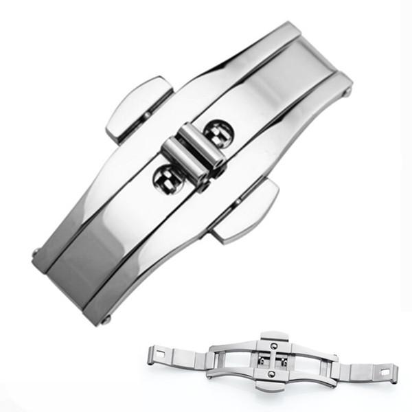 4mm 5mm 6mm Orologio cinturino fibbia a farfalla fibbia a farfalla Bracciale in acciaio al tungsteno con fibbia in acciaio 316 fibbia in acciaio inossidabile