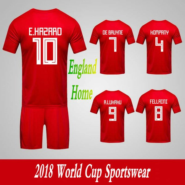 Men's Clothing Tracksuits Belgium National Team Home Football Sport Suits 2018 World Cup Soccer Uniform Clothes Shorts