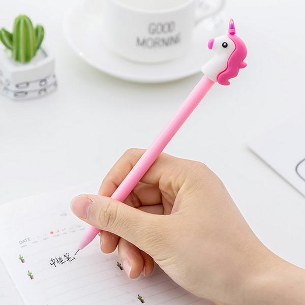 best selling New Girl Boy Heart Cartoon Unicorn Pig Flaming Marvel Hero Student Writing Pen Office Eexamination Luxury Limited Office School Supplies