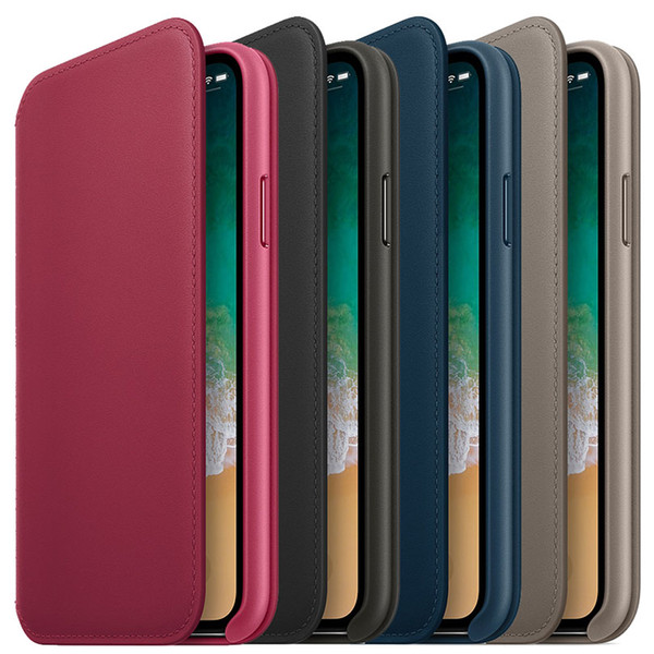 Official Have LOGO Wallet Flip Leather Case for iPhone X Original Smart Phone Card Slot Cover Case With Retail Box