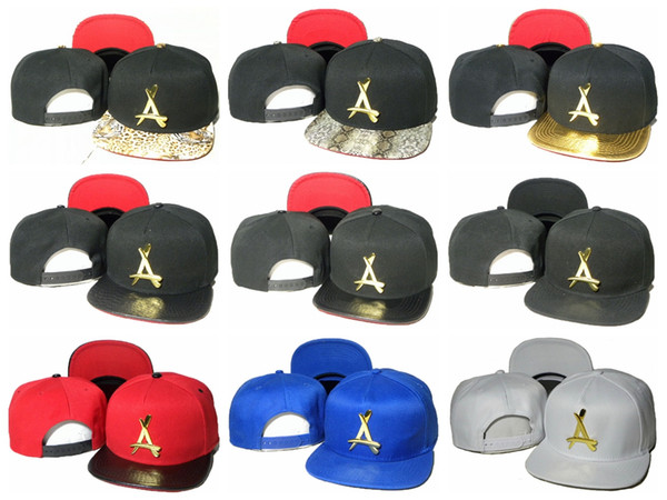 THA Alumni Snapback Dad Hats For Women metal gold logo A letter Baseball Cap Men Bone Casquette Sun Visor Hat Cap Hip Hop