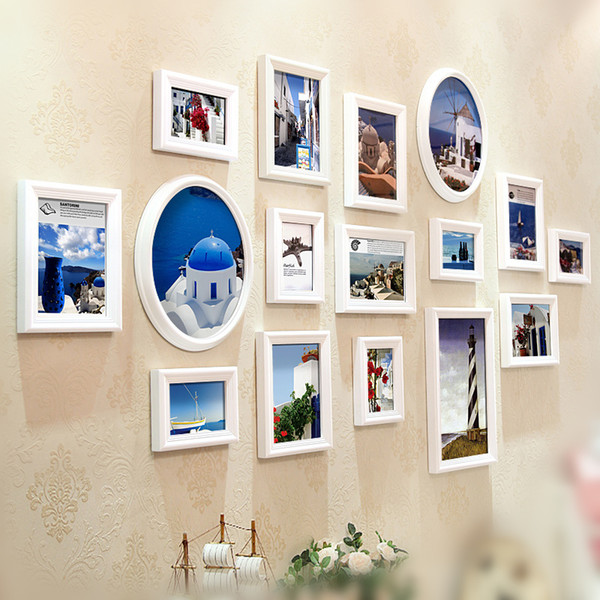 Pictures Frame Set Family Frame Picture Wall Hanging Living Room Decoration Home Wall Photo Frame Set Baby Room Study Art Decor 16 Pieces