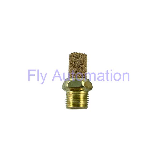 """Pneumatic Air Silence Muffler Brass BSL01 BSL02 1/8"""" Airtac G thread Yellow Exhaust Sintered Brass Muffler"""