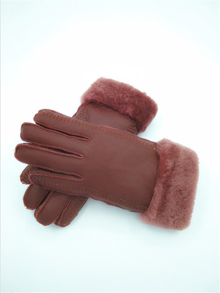 Leather gloves 100 pure cashmere comfortable fashion warm and cold resistant for going out morning run