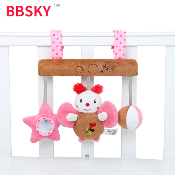 Car Hanging Baby Bed Hanging Bell Toy Haha Mirror Sound Music Box Butterfly BB Called Baby Toy