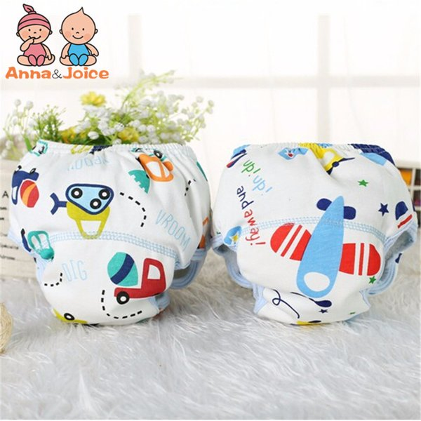 top popular Free Shipping 30pcs lot Cotton Baby Training Pants Baby Diapers Children Underwear Reusable Diaper Nappies Reusable Diapers 2020