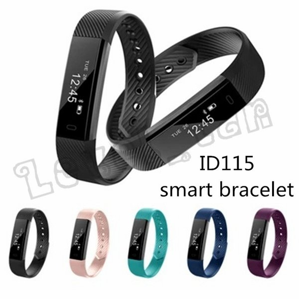 Free ID115 Smart Bracelet Fitness Tracker Step Counter Activity Monitor Band Alarm Clock Vibration Wristband for iphone Android phone