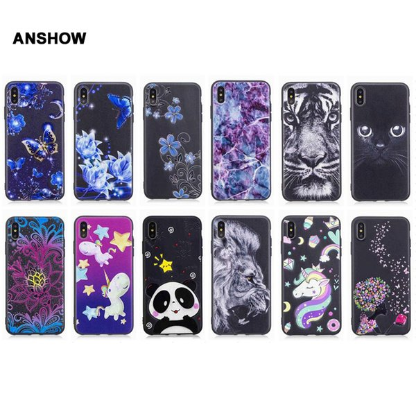 wholesale Flower Butterfly Soft TPU Case For Galaxy S9 Plus S8 (A8 A6 J4 J6 J8 J2 Pro)2018 Panda Unicorn Cat Leopard Marble 100PCS