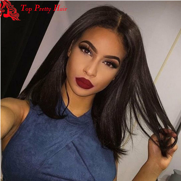 Bob Lace Front Wigs Free Style Lace Front Human Hair Wigs Short Bob Virgin Malaysian Thick Long Human Hair Wigs For Black Women
