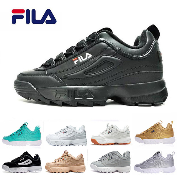 2018 Original FILA White Black Grey Yellow II 2 FILAS Women Men FILE  Special Section Sport Sneaker Shoes Increased Casual Sneakers Naot Shoes  High ...
