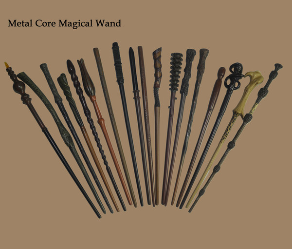 top popular 48 Design Potter Wand With Gift Box Metal Core Magic Wand Hermione Granger Pottered Wand 2021