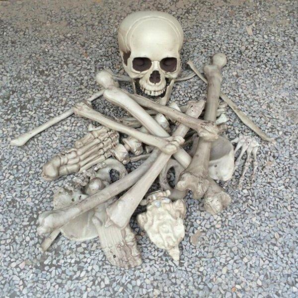 YENİ Tasarım Cadılar Bayramı Korku Parti Sahne Dikmeler Horro Ana Bar Parti Haunted İçin Kemik Kafatası Perili Halloween Dekorasyon Broken