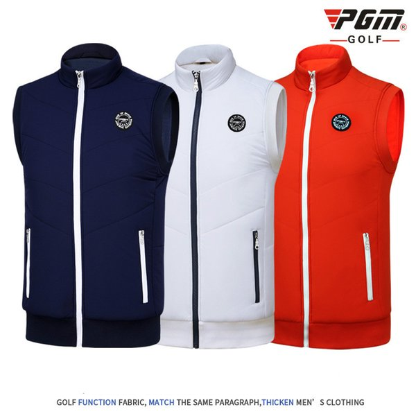 2018 PGM Men's Golf T Shirt Golf Vest Cashmere Warm Sport Vest For Male Close Skin Soft Match Jersey Size M-XXL