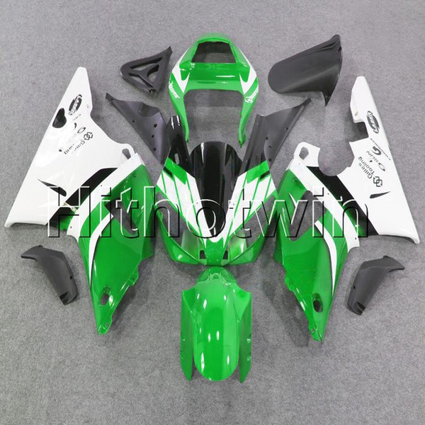 23colors+8Gifts green white bodywork motorcycle cover for Yamaha YZF-R1 98 99 YZFR1 1998 1999 ABS Plastic Fairing