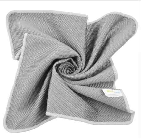 Sunland Microfiber Towel Cleaning cloth for Stainless Steel Appliances Wine Glass Window Polishing Towel Grey 16x16Inch 6Pcs