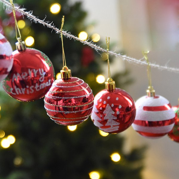 24pcs/set Christmas Balls Christmas Decorations Tree Bauble Hanging Ornaments New Year Party Supplies Decorations For Home 2019