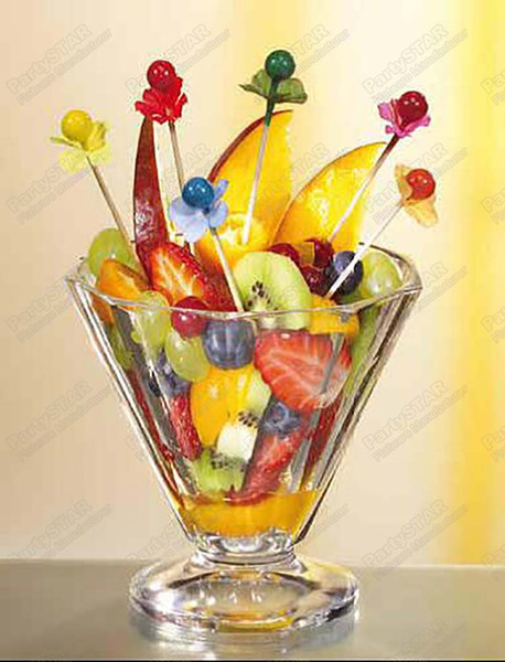 """6,600 pcs Fingerfood skewers 7cm Party picks colors ball assorted""""berries""""Pearl,Disposable wooden,Cake,sandwich,fruit dessert"""