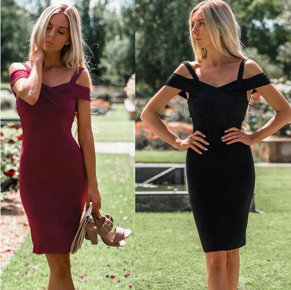 Lguc.H Sexy Tight Dress Noodles Bodycon Dress Nightclub Prom Party Dress Mini Women Clothes 2018 Summer Red Black Sleeveless