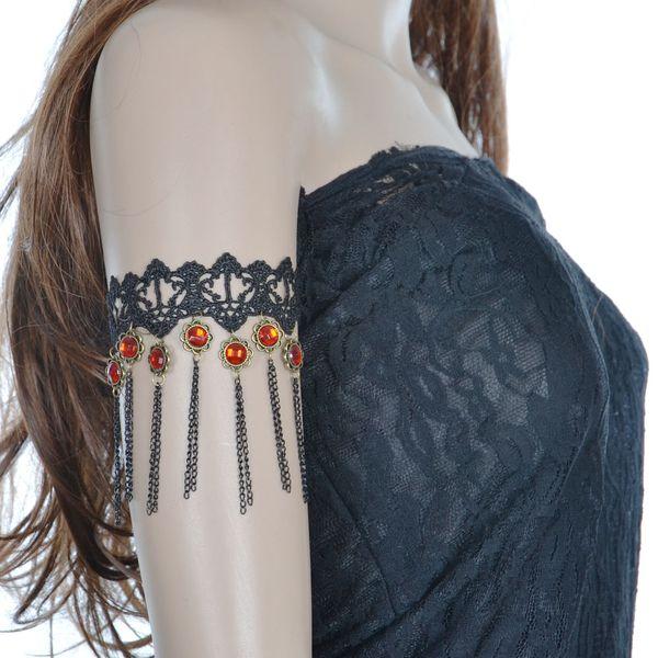 Women Black Lace Bracelet Fashion Christmas Gift Party Gem Bracelet