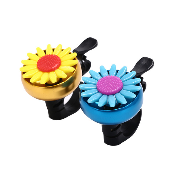 Useful Safety Aluminum Alloy Cuty Flower Bike Bicycle Cycling Handlebar Ring Horn Sound Sunflower Bell Alarm Metal Multicolor