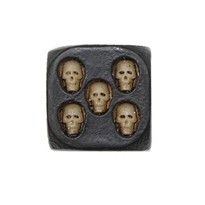 Dés de crâne de sucre pour les idées de cadeaux d'Halloween Dés de crâne de résine