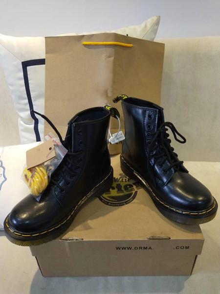Дизайнер Мартин натуральная кожа обувь сапоги высокий топ Dr 1460 мотоцикл стиль en женщины Slim Fit обувь любитель снег сапоги
