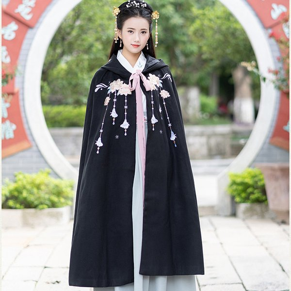 e3301774a hanfu women embroidery cloak dance costume ancient chinese costume