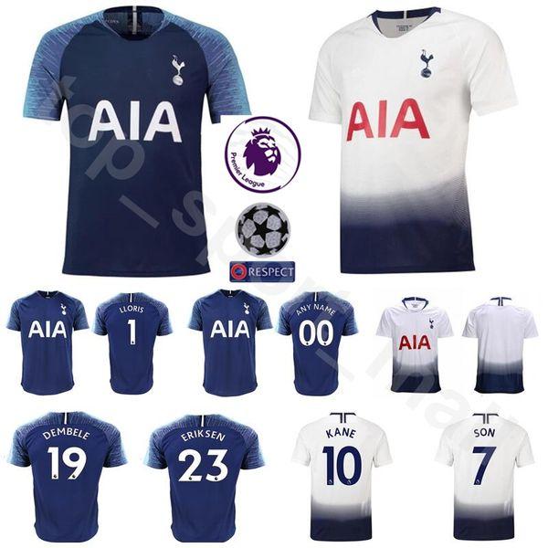 the best attitude adc14 8063c 2019 18 19 Season Soccer 19 DEMBELE Jersey Hot Spur 23 ERIKSEN 12 WANYAMA  MOURA LLORIS Football Shirt Kits Custom Name Number Blue White From ...