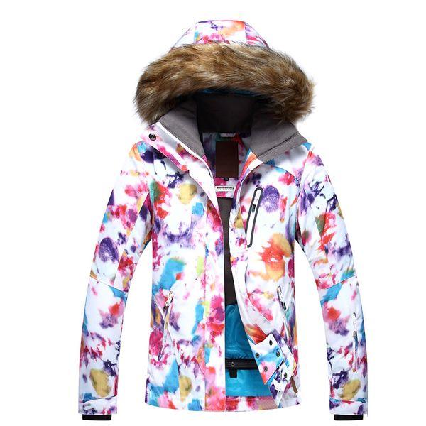 GSOU SNOW Women's Ski Suit Single Double Board Outdoor Warm Breathable Windproof Waterproof Ski Jacket For Women Size XS-L