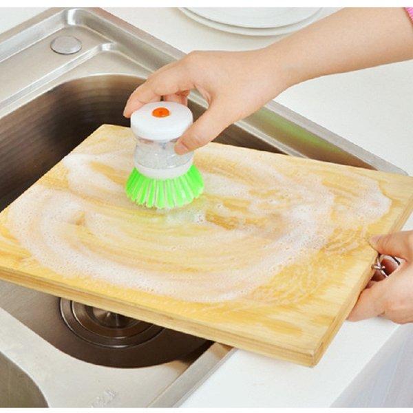 2016 nuova nuova spazzola calda del piatto della palma con l'insieme di stoccaggio dell'erogatore del sapone liquido di lavaggio Trasporto libero