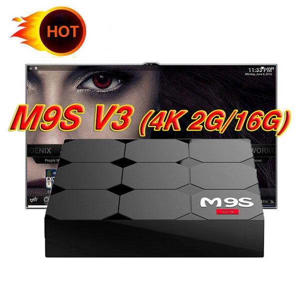 M9S V3 TV Box Rockchip RK3229 Quad Core Android 6.0 2GB 16GB 2.4G Wifi HDMI 2.0 HD 4K 1080P Streaming Media Players