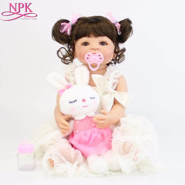 NPKCOLLECTION 22 Pulgadas de Vinilo de Silicona Reborn Alive Baby Doll Toys Newborn Princess Toddler Babies Bebe Doll