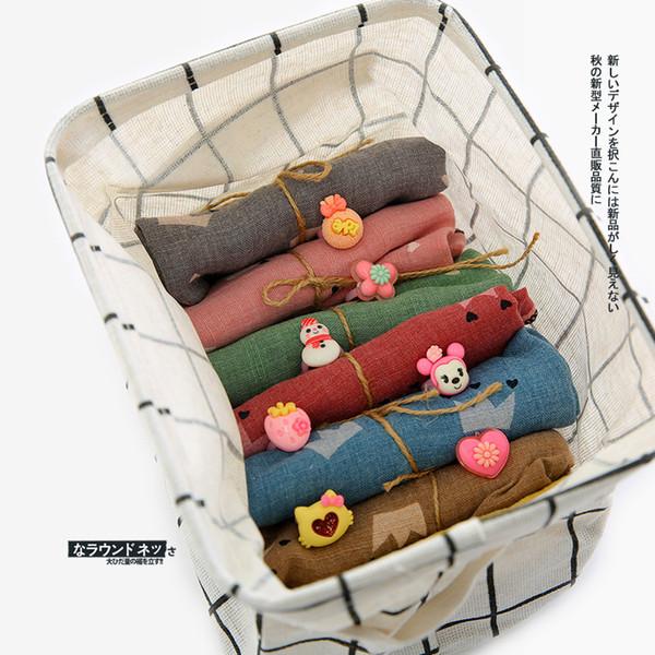 INS Echarpe Lolita Style Kids 100% coton Couronne Design avec Bague Lolita pour cette écharpe multi couleurs fille écharpe printemps automne hiver